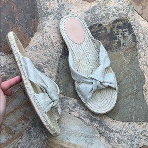 J. Crew shoes slippers sandals beige flood 8.5